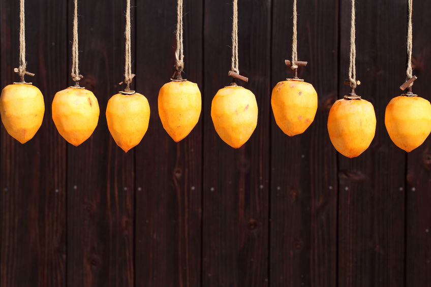 24066022 - drying persimmon by the sun