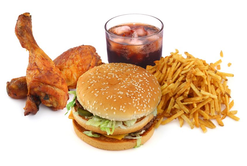 3724216 - fast food collection on on white background